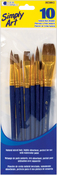 Simply Art Natural Hair Brush Set 10/Pkg