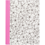 "Floral - Hall Pass Adult Coloring Composition Notebook 7.5""X9.75"""
