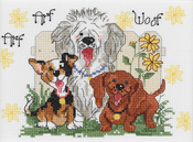 """7""""X5"""" 14 Count - Suzy's Zoo Dogs Of Duckport Mini Counted Cross Stitch Kit"""