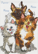 """5""""X7"""" 14 Count - Suzy's Zoo Cattails Of Duckport Mini Counted Cross Stitch Ki"""