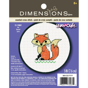 "3"" Round 11 Count - Learn-A-Craft Fox Counted Cross Stitch Kit"