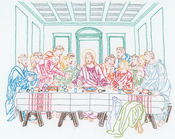 "Last Supper - Stamped White Sampler 11""X14"""