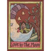 """5""""X7"""" 28 Count - Love By The Moon Sticks Counted Cross Stitch Kit"""
