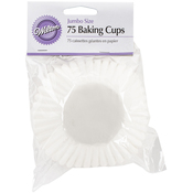 White 75/Pkg - Jumbo Baking Cups