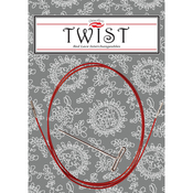 Mini - Twist Red Lace Interchangeable Cables 14""