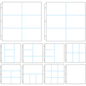"Assorted Layouts - Couture Creations 3-Ring Page Protectors 12""X12"" 10/Pkg"