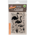 "Color Layering Flamingo - Hero Arts Clear Stamps 4""X6"""