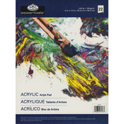 "Essentials Acrylic Artist Paper Pad 9""X12"""