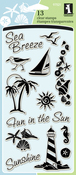 "Coastal - Inkadinkado Clear Stamps 4""X8"""