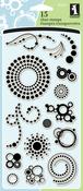 """Circle & Dots - Inkadinkado Clear Stamps 4""""X8"""""""