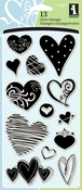 "Hearts - Inkadinkado Clear Stamps 4""X8"""