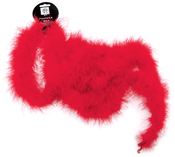 """Red - Marabou Feather Boa Solid Color Medium Weight 72"""""""
