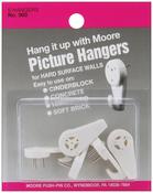 Hard Surface Walls - Picture Hangers 5/Pkg