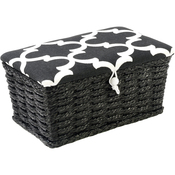 Black & White Lid - Sewing Basket Rectangle