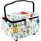 Paris Print - Sewing Basket Rectangle