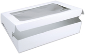 "White 14""X19""X4"" 1/Pkg - Window Cake Box"