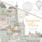"Bonjour Paris - KaiserColour Perfect Bound Coloring Book 9.75""X9.75"""