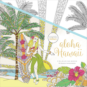 "Aloha Hawaii - KaiserColour Perfect Bound Coloring Book 9.75""X9.75'"