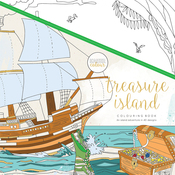 "Treasure Island - KaiserColour Perfect Bound Coloring Book 9.75""X9.75"""