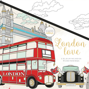 "London Love - KaiserColour Perfect Bound Coloring Book 9.75""X9.75"""