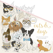 "Cats & Dogs - KaiserColour Perfect Bound Coloring Book 9.75""X9.75"""