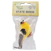 "American Goldfinch - Mushroom Bird 4"""