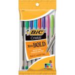 Fashion Assorted Barrels - Cristal Xtra Bold Pens 8/Pkg