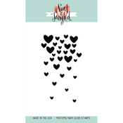"""Falling Hearts - Neat & Tangled Clear Stamps 3""""X4"""""""