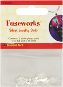 """Silver 3/8""""X1/4"""" - Fuseworks Small Bails 5/Pkg"""