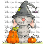 """Bunny Witch - Whipper Snapper Cling Stamp 4""""X6"""""""