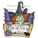 "Witch Is In - Whipper Snapper Cling Stamp 4""X6"""
