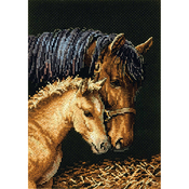 """5""""X7"""" 18 Count - Gold Petites Gentle Touch Counted Cross Stitch Kit"""