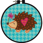 "6"" Round - Learn-A-Craft Little Hedgehog Felt Applique Kit"