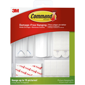 38 Pieces - White - Command Picture Hanging Kit