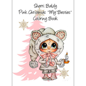"Pink Christmas - My Besties Coloring Book 5""X7"" 10 Pages"