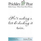 "Checking It Twice - Prickley Pear Cling Stamps 2.25""X2"""