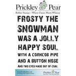 "Frosty The Snowman - Prickley Pear Cling Stamps 3""X2.5"""