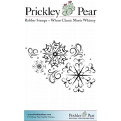 "Snowflake Flourish ATC - Prickley Pear Cling Stamps 3.25""X3.25"""