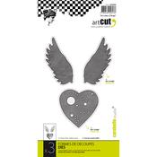 An Angel Heart, 3/Pkg - Carabelle Art Cut Die