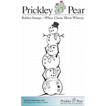 """Stacked Snowmen - Prickley Pear Cling Stamps 3.25""""X3.25"""""""