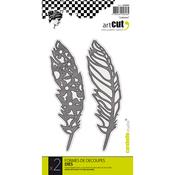 Feathers, 2/Pkg - Carabelle Art Cut Die