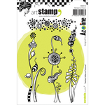Crazy Weeds & Texture - Carabelle Studio Cling Stamp A6