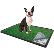 "With Pad - Indoor Turf Dog Potty Classic Plus Connectable 16""X24"""