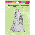 """Snowman Tree - Stampendous Cling Stamp 6.5""""X4.5"""""""