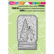 """Snow Jar - Stampendous Cling Stamp 6.5""""X4.5"""""""