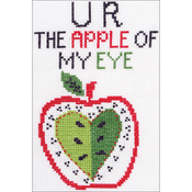 "5""X7"" 14 Count - My 1st Stitch U R The Apple Mini Counted Cross Stitch Kit"