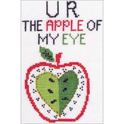 "5""X7"" 14 Count - My 1st Stitch U R The Apple Mini Counted Cross Stitch Kit"