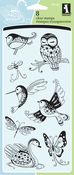 "Patterned Birds & Bugs - Inkadinkado Clear Stamps 4""X8"""