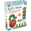Let's Feed The Very Hungry Caterpillar Game University Games-Let's Feed The Very hungry Caterpillar Game. This game is great for helping children develop counting skills as well us building their fine motor skills. This 10-1/2x8x2 inch package contains four caterpillar pieces, twenty butterfly puzzle pieces, fifty-eight movement cards, one board game and instructions. Recommended for ages 3 and up. WARNING: Choking Hazard- small parts. Not for children under 3 years. Imported.