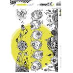 Wonderful Flower Strips - Carabelle Studio Cling Stamp XXL A4